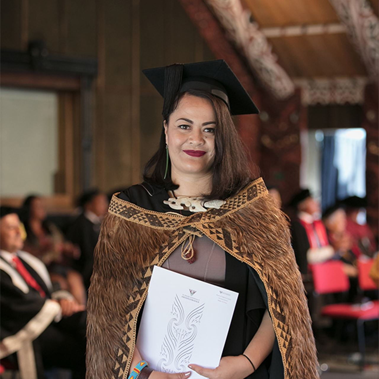 Hinerangi Busby graduated with the Masters of Indigenous Studies in 2018