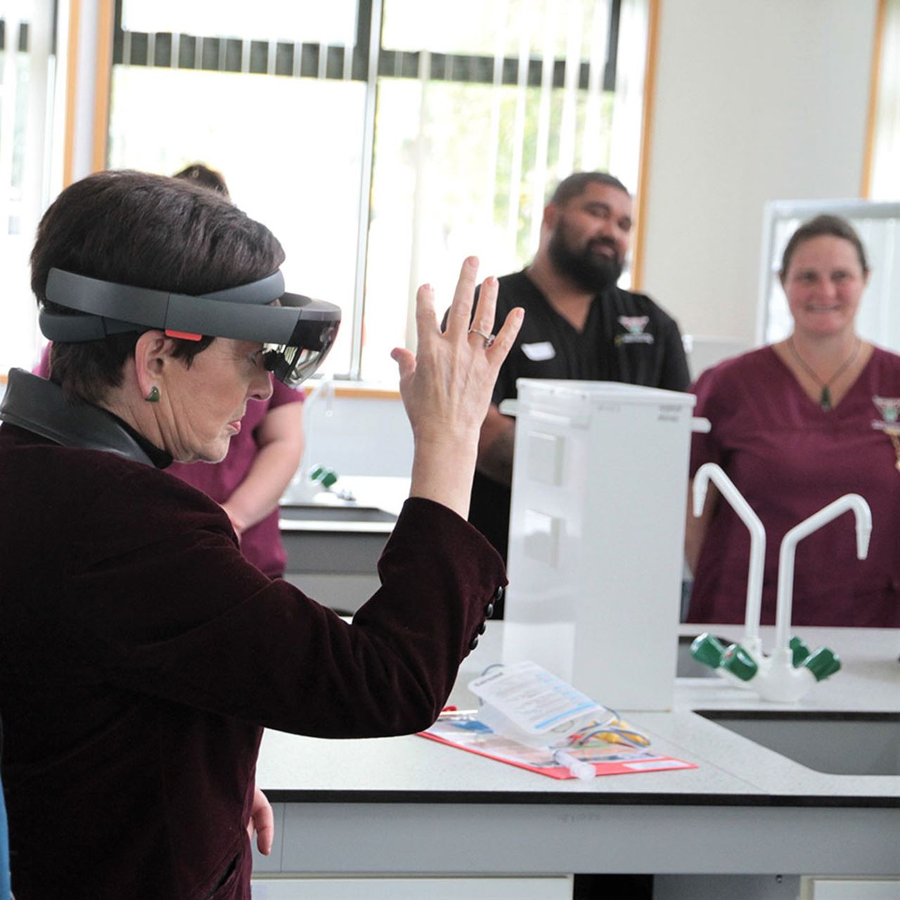 Augmented reality (AR) technology is being used to train student nurses at Awanuiārangi.