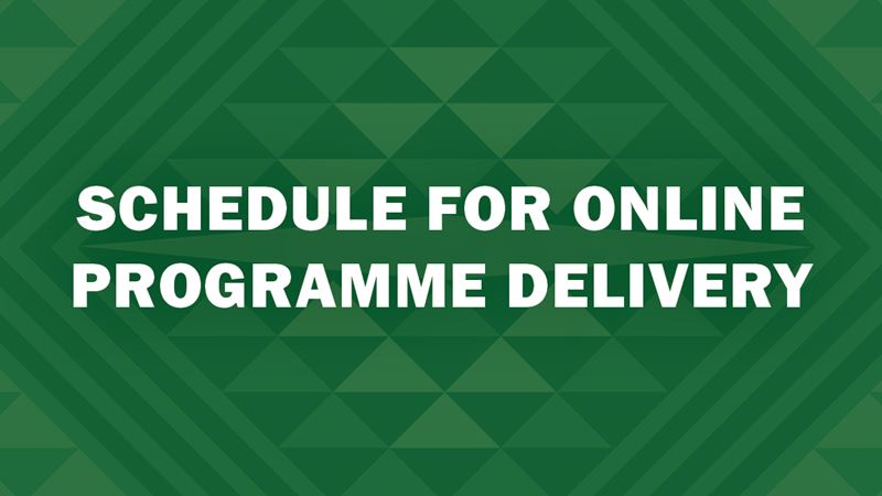 Programme Delivery Information for COVID-19