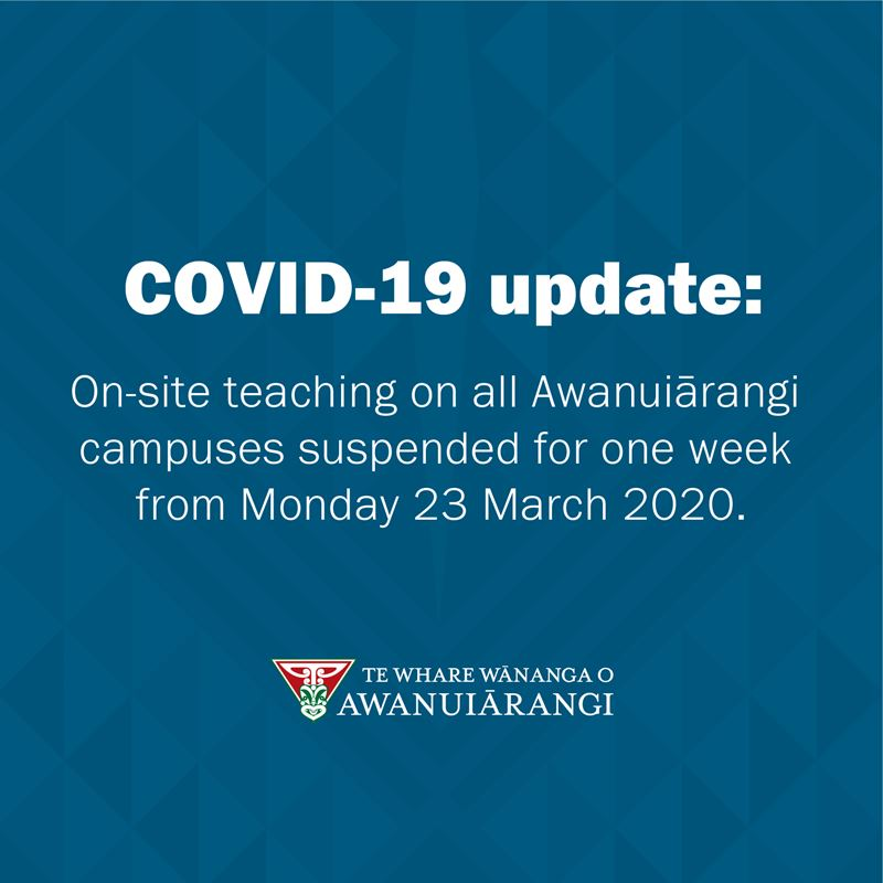 COVID-19 response: Saturday 21 March 2020