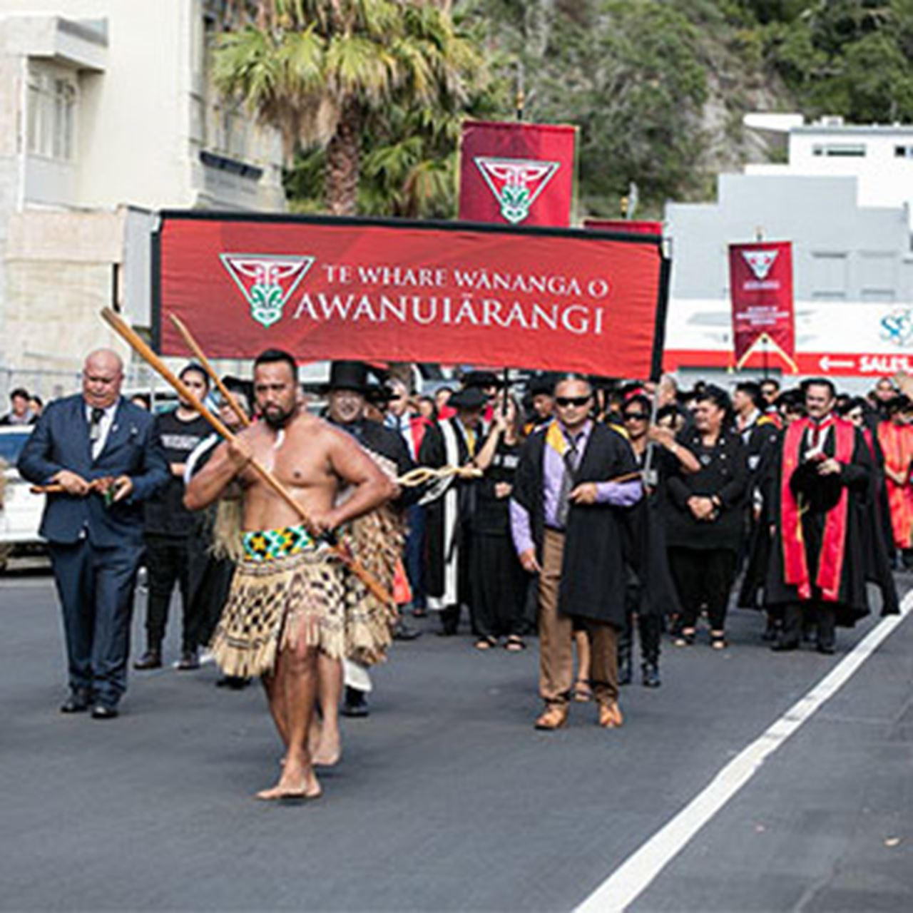 The Gown and Town Hikoi procession is a highlight of every Graduation ceremony