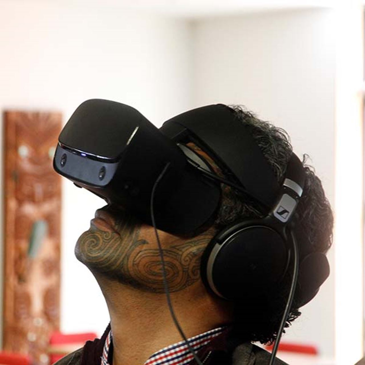 Dr Reuben Collier checks out the VR story of Whakatāne